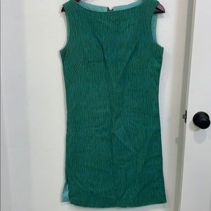 Vintage shift dress turquoise and green.